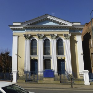 Shakespeare St Synagogue, originally bult as a Wesley chapel