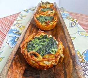 Spinach Potato Nest Bites